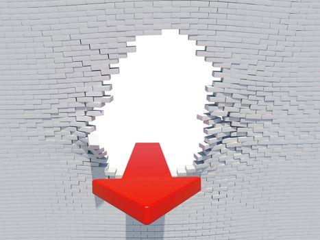 Wall crash arrow