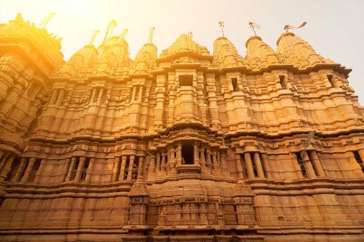 Ancient sandstone made Jaisalmer fort