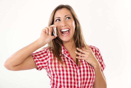 Enjoying A Phone Call