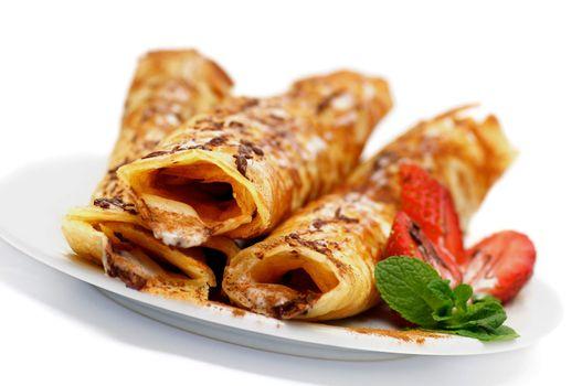 Pancake Tubules with Strawberry