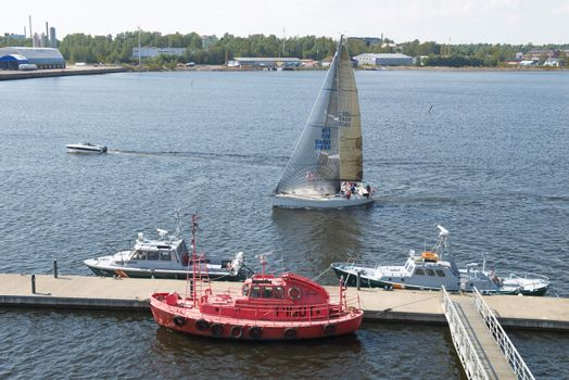 Harbor of the town of Kotka in Finland