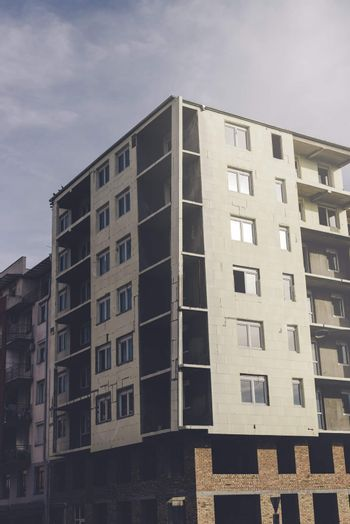 Unfinished generic residential building