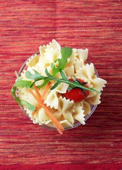 Bowl of bowtie pasta