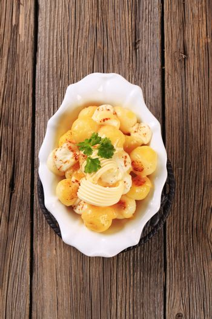 Parisian potatoes with mozzarella cheese