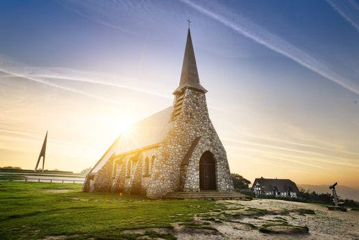 Etretat church France