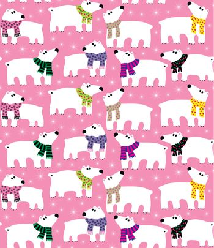 Polar bears on pink background