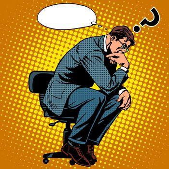 Thinker businessman business concept