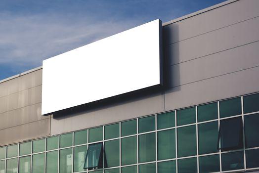 Blank company advertising billboard as copy space