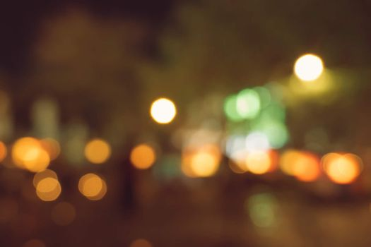 blurred city lights in the night
