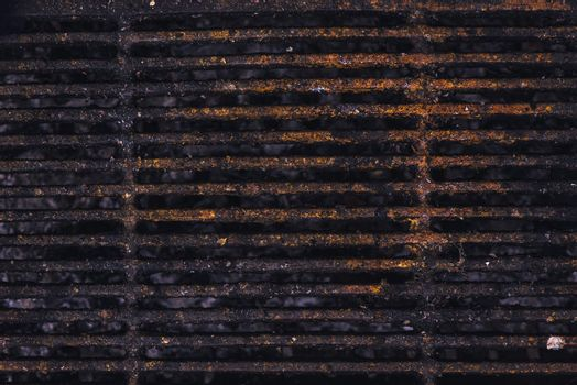 Rusty metal grill plate