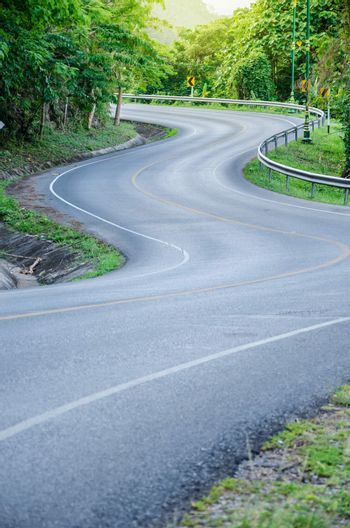 S - curves road.