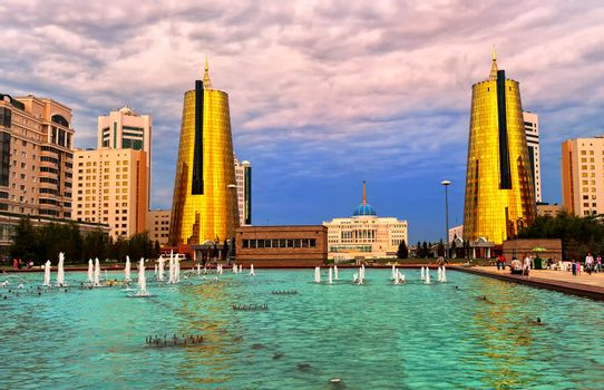 View to President Palace in Astana, capital of Kazakhstan