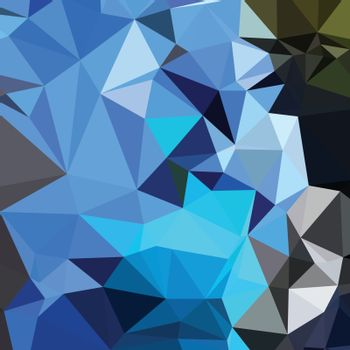 Air Force Blue Abstract Low Polygon Background