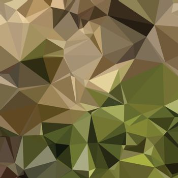 Low polygon style illustration of a burlywood brown abstract geometric background.