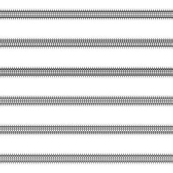 Ornamental line divider design set