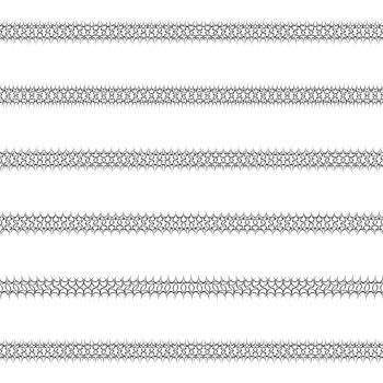 Ornamental text line divider design set