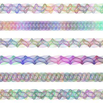 Color digital design page divider line set