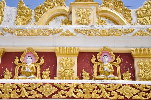 Buddha decorated on Mandalay Hill