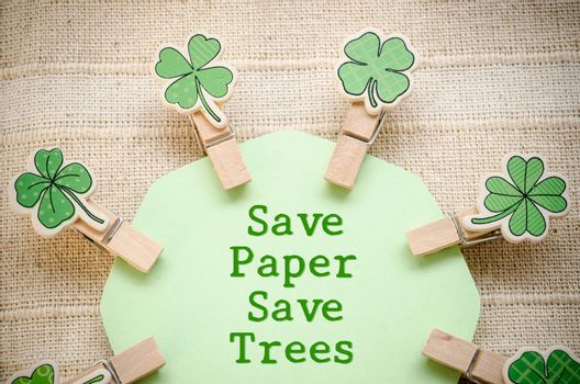 Save paper save trees.