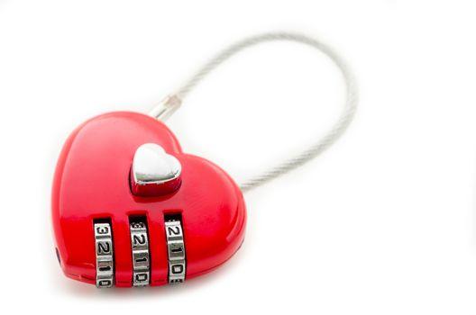 Red master key heart