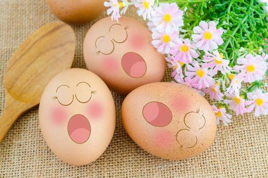 Eggs sleep in Expression Face