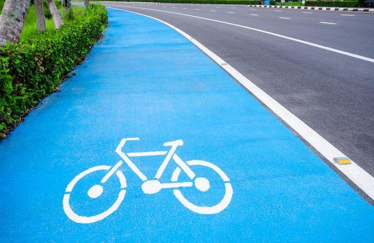 bicycle symbol lane