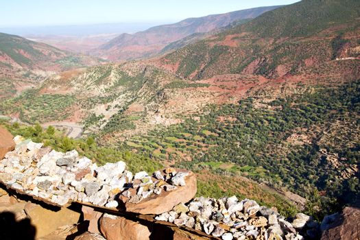 the    dades valley in atlas  africa   nobody