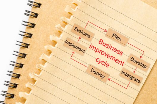Business improvement cycle process.