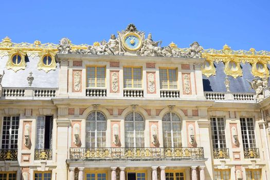 Exterior view of Palace of Versailles