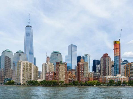 Lower Manhattan cityscape, New York City, USA