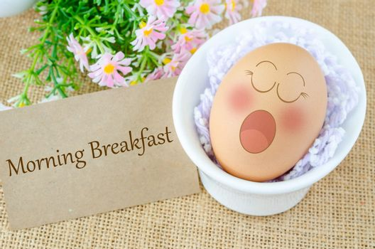 Eggs sleep with Expression Face