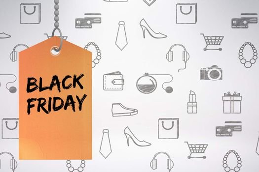 Composite image of black friday advert