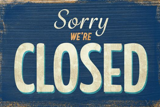 A Vintage closed sign
