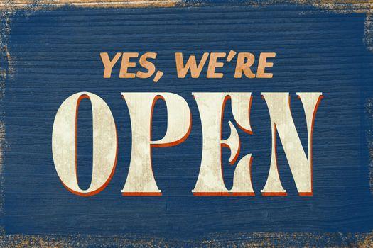 A Vintage coloured open sign