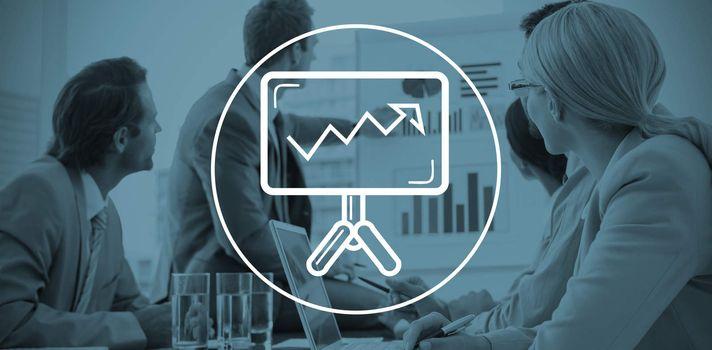 Composite image of business presentation