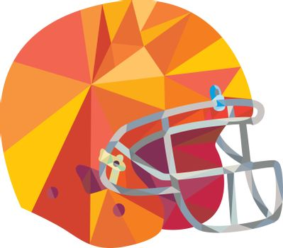 American Football Helmet Low Polygon