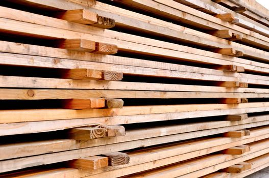 a stack of the wooden pallets
