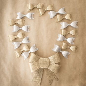 Bows in gold and silver