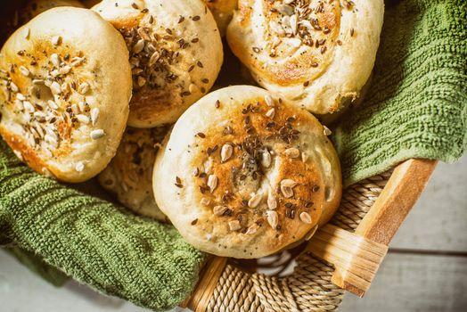 Homemade bread bagel breakfast crusty