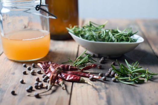 ingredients cooking salad dressing herbs spicy sauce