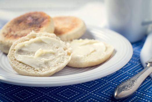 homemade English muffin breakfast bread