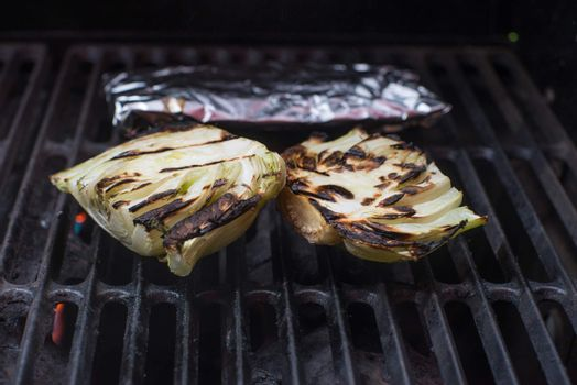 Fresh grilled raw fennel root vegetable organic
