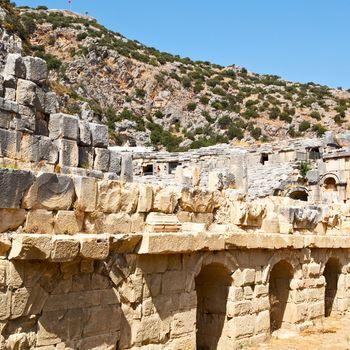 in  myra turkey europe old roman necropolis and indigenous tomb