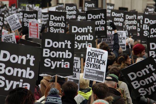 LONDON - UNITED KINGDOM - SYRIA - ANTI-WAR