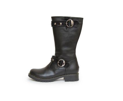 Stylish boots isolated on white