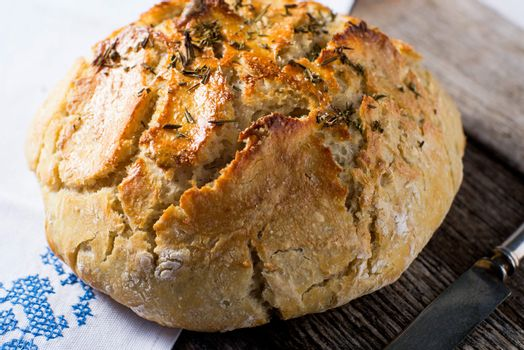 Rustic Artisan crusy baked bread