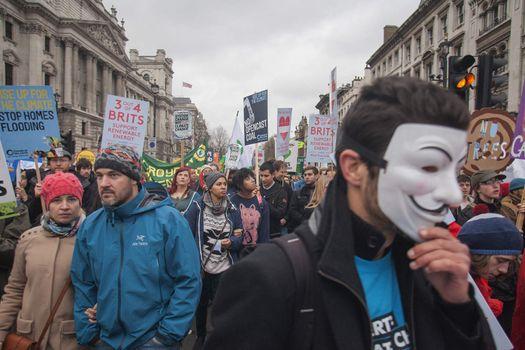 LONDON - CLIMATE CHANGE - PROTEST