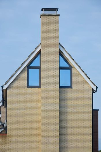Side of Modern House with Chimney