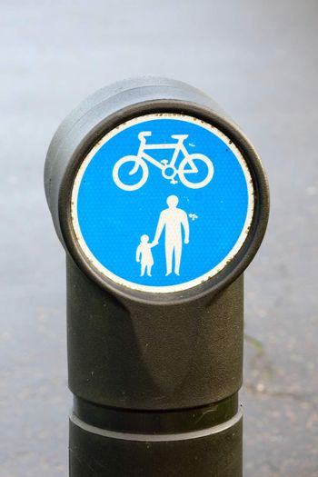 Small Cycle and Pedestrian Sign