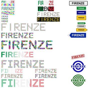 Firenze (Florence) text design set